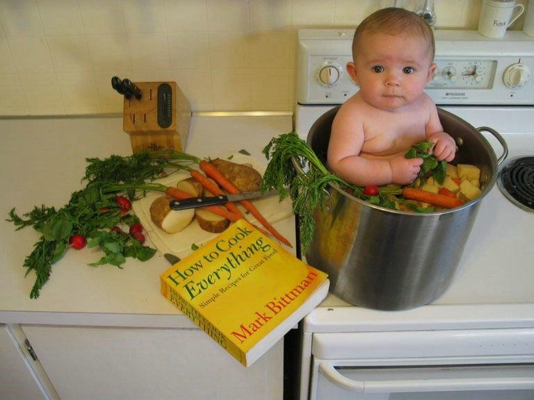 Смешные картинки дети и еда