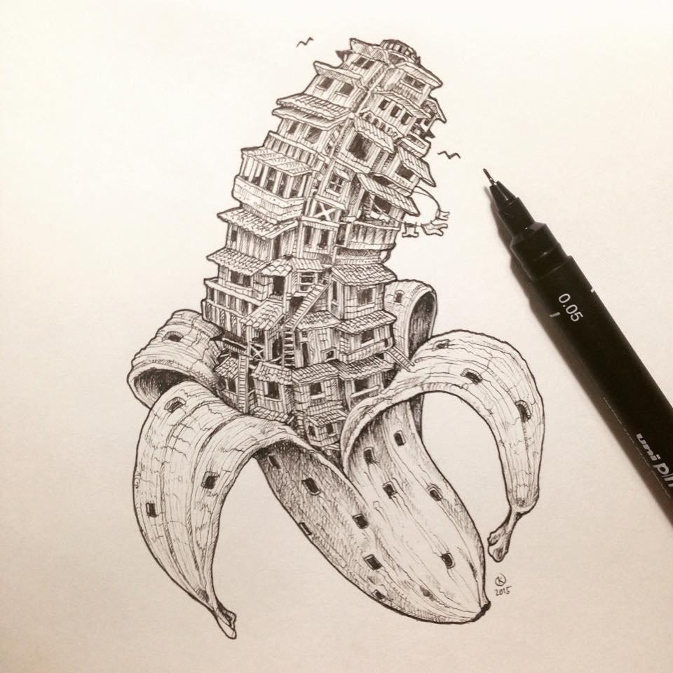 Крутые картинки нарисованные черной ручкой