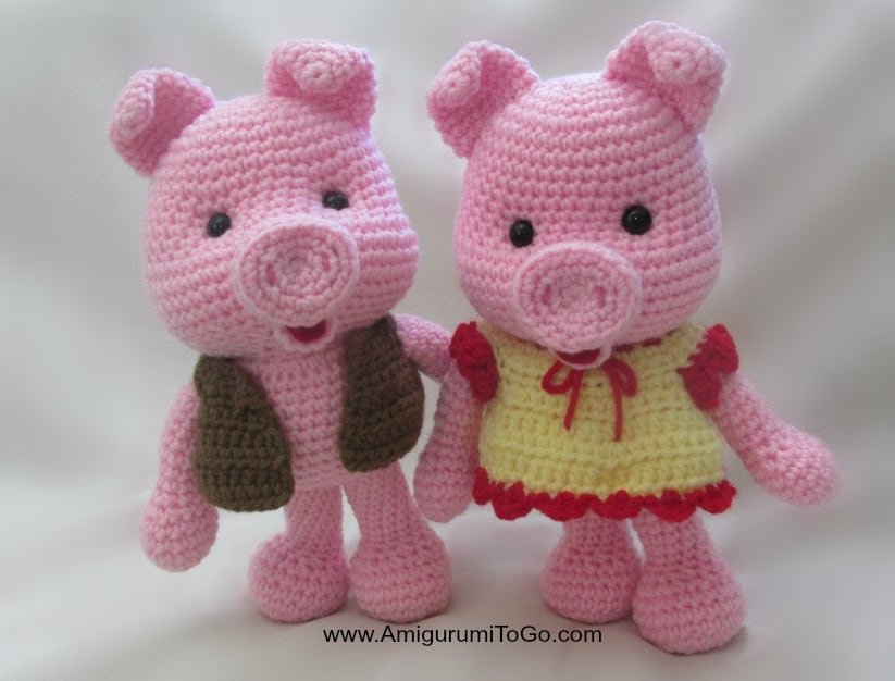Dress Up Pigs Free Pattern Amigurumi To Go Pattern - Pattern