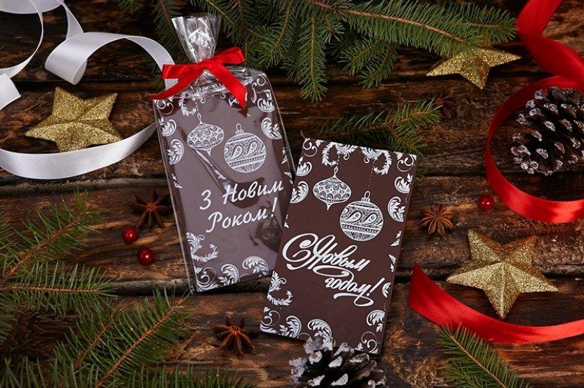 Шоколадная открытка на новый год