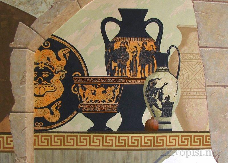 древнегреческие рисунки на стенах поможет волшебный