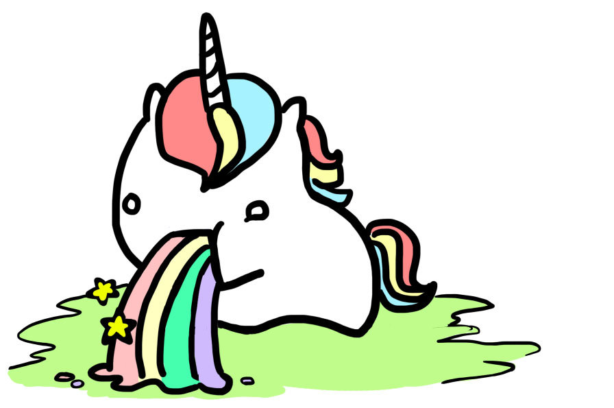 cute unicorn clipart - 896×595