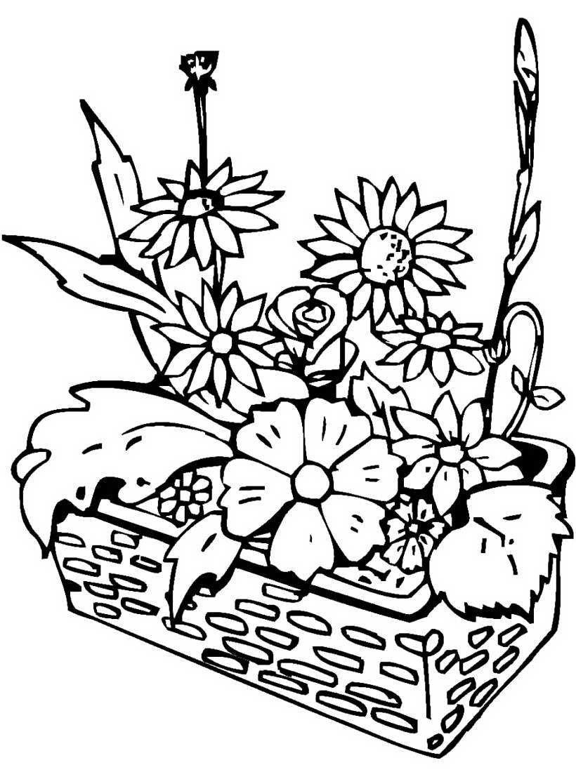 Рисунок цветы как клумба