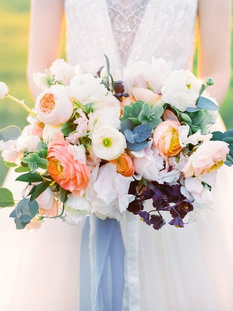 Лучший летний свадебный букет, букет невесты