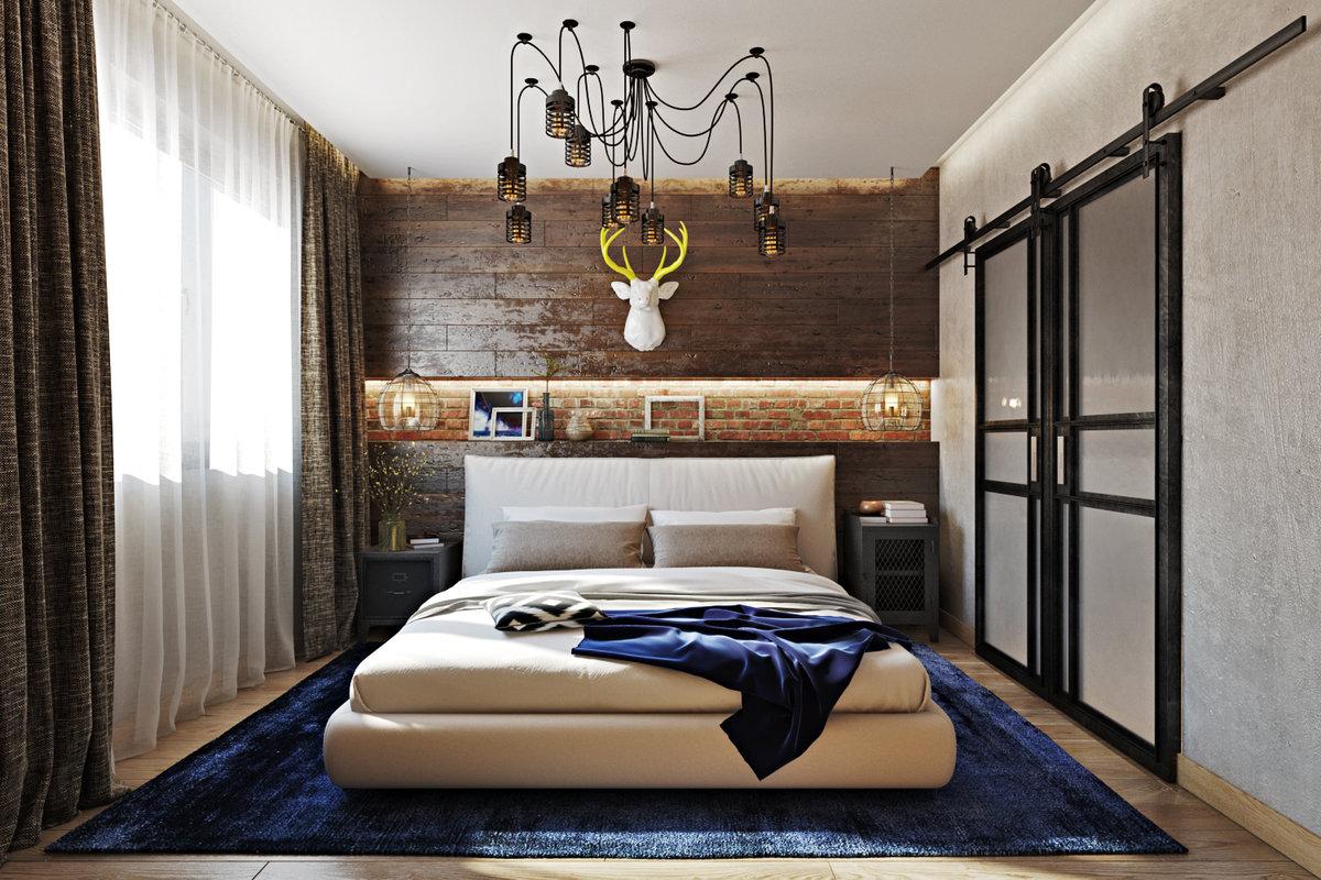 фото брутальной мужской спальни