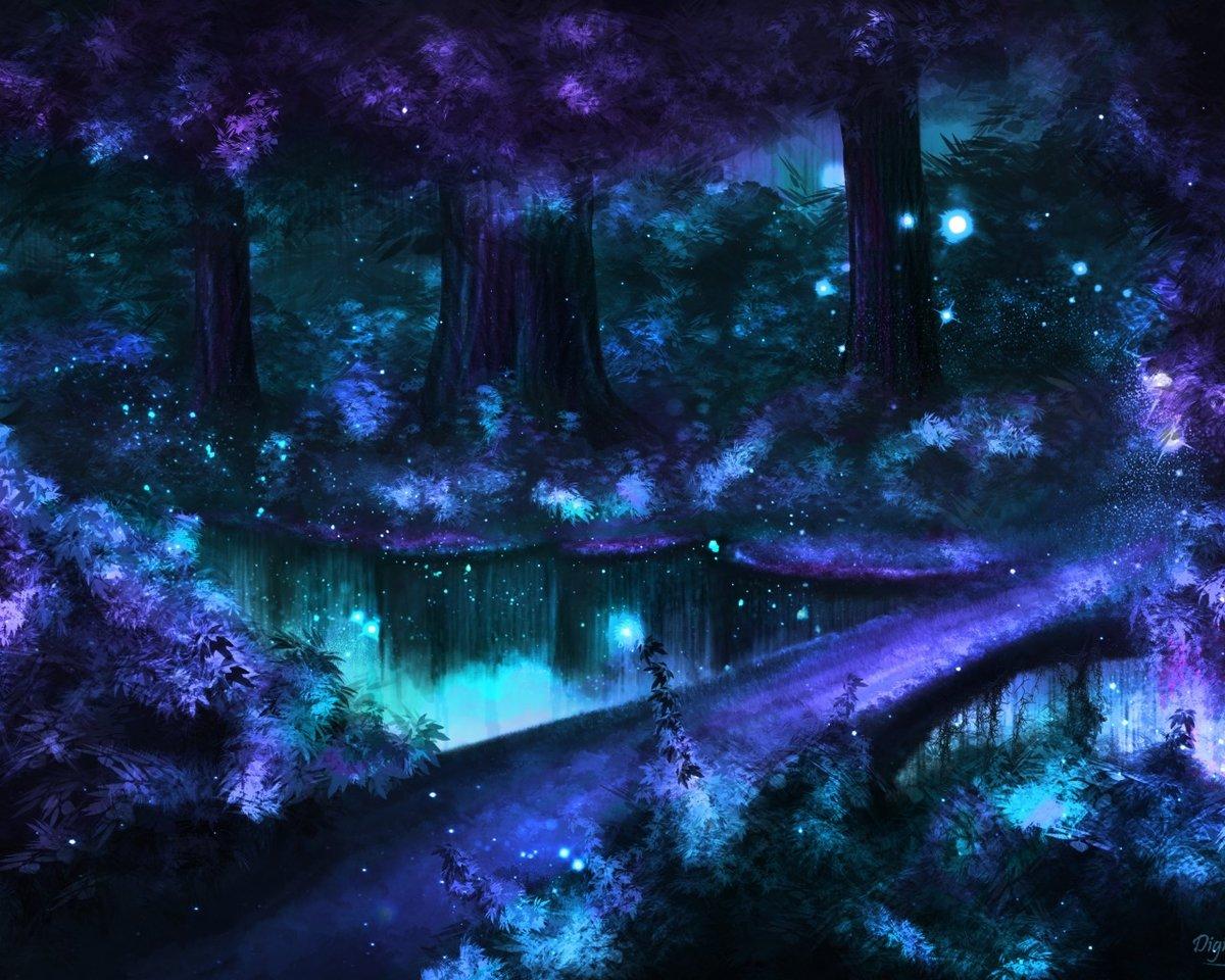 Картинки сказочный лес вечер