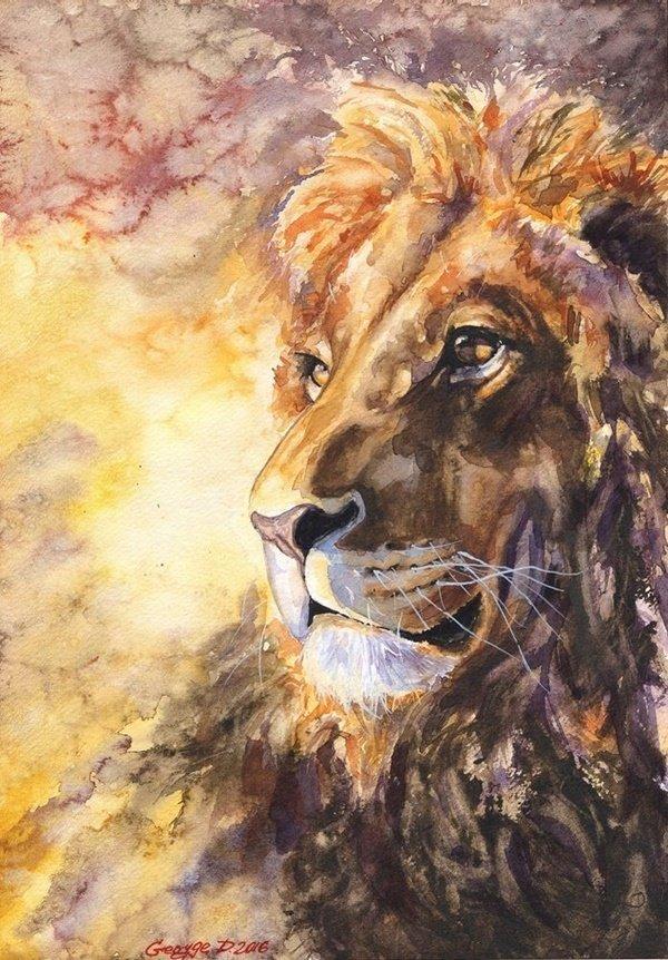 корней рисунок львов гуашью легко сделать самостоятельно