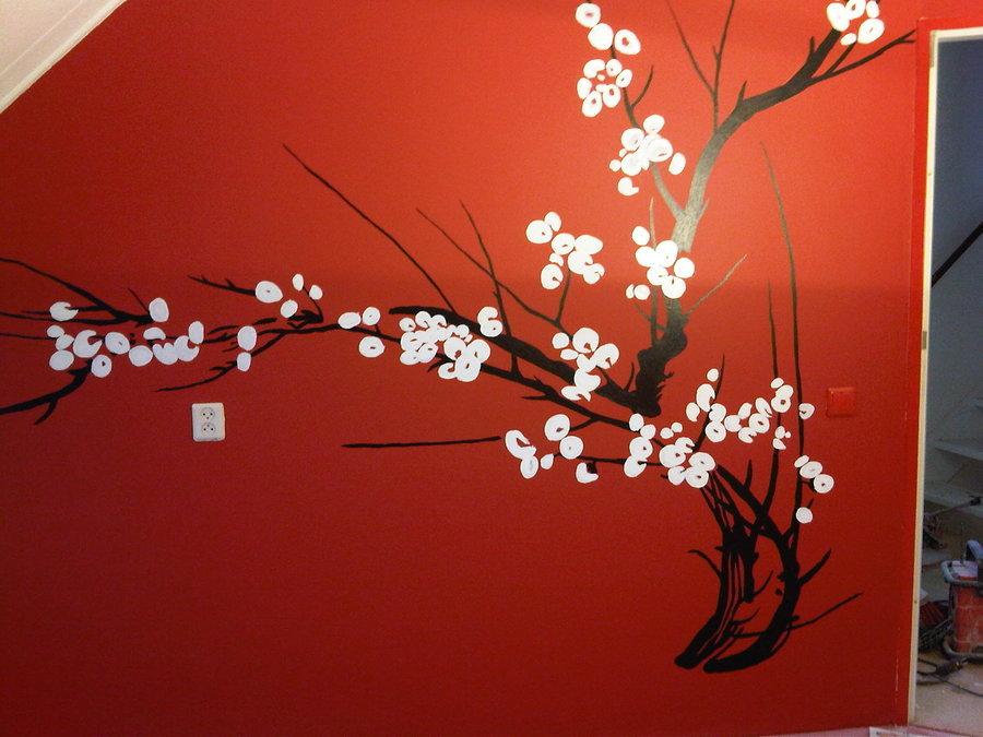 Картинки на стене сакура