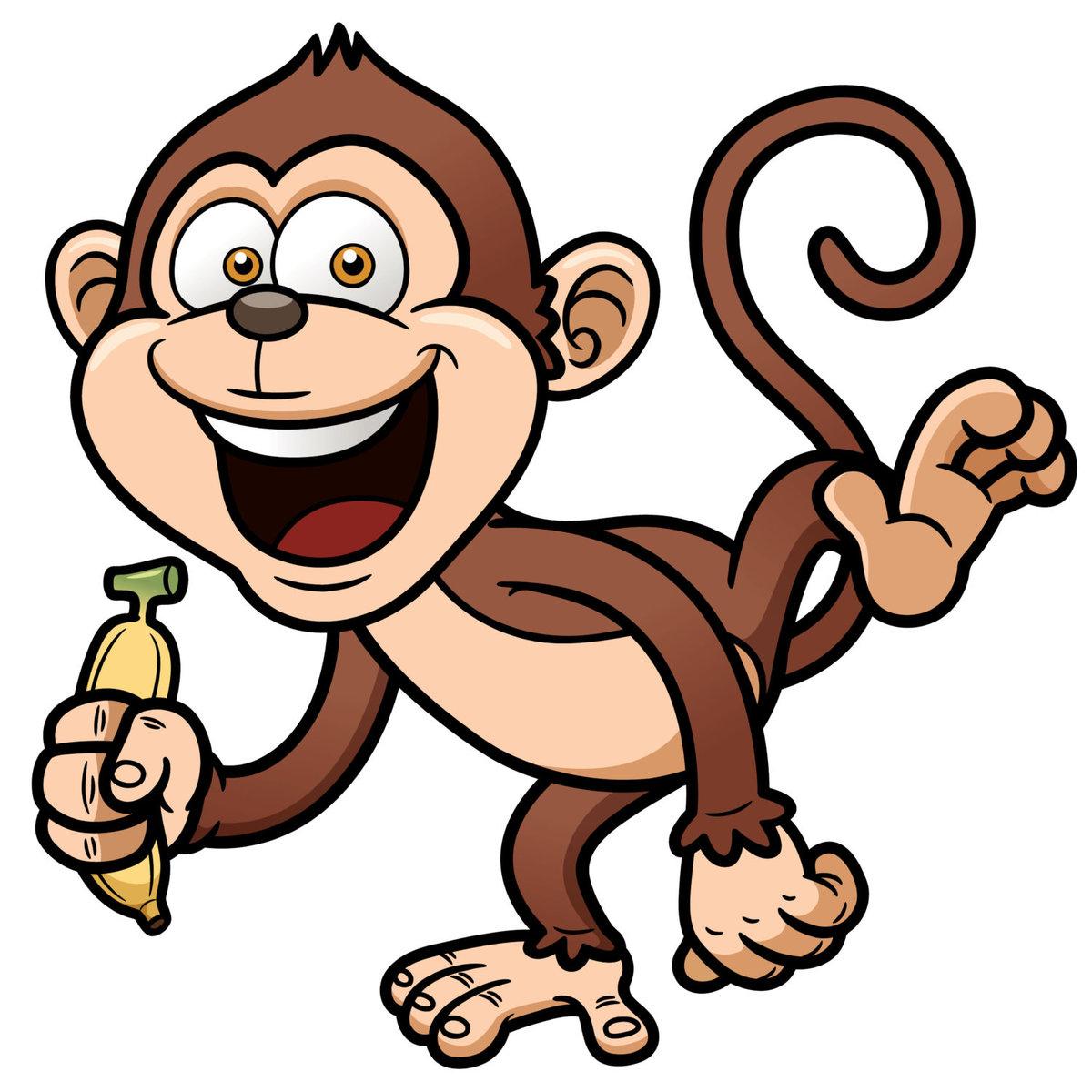 Прикольные нарисованные картинки обезьянок, можно