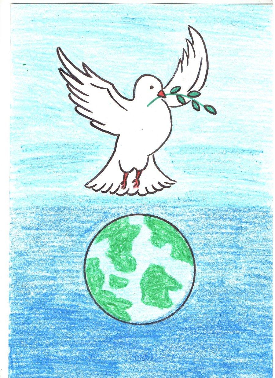 Нарисовать открытку мир, новогодние горизонтальные