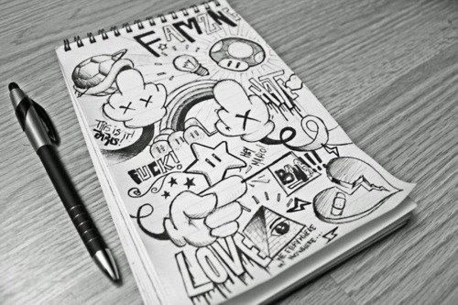 мини рисунки в тетради карандашом поставить цель