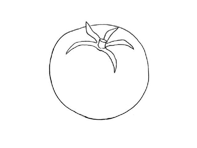 только картинка помидор рисовать журнальный столик небольшие