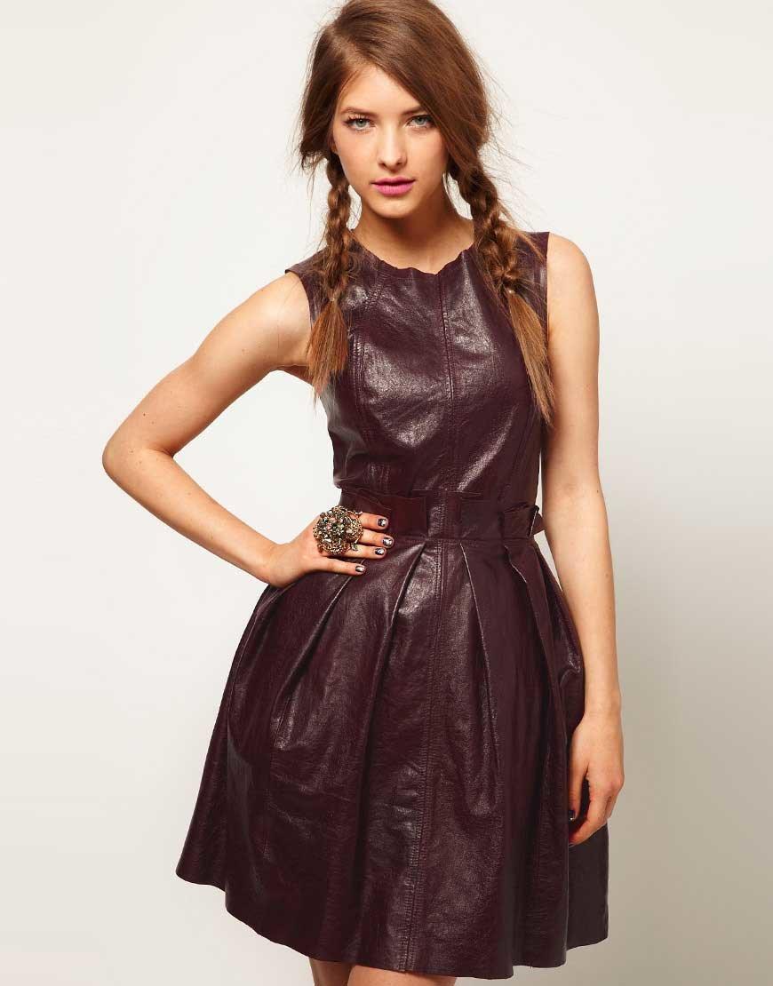 Платья сарафаны из натуральной кожи фото