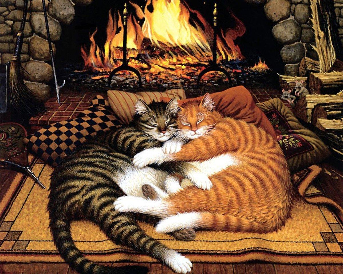 Веселые уютные картинки, рисовать открытку