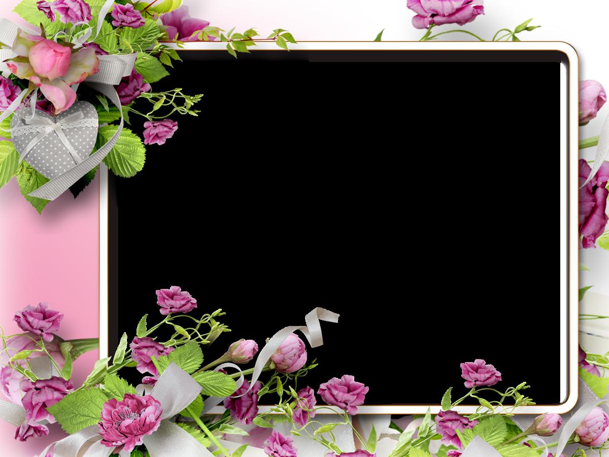 Открытка с рамкой из цветов, для папы день
