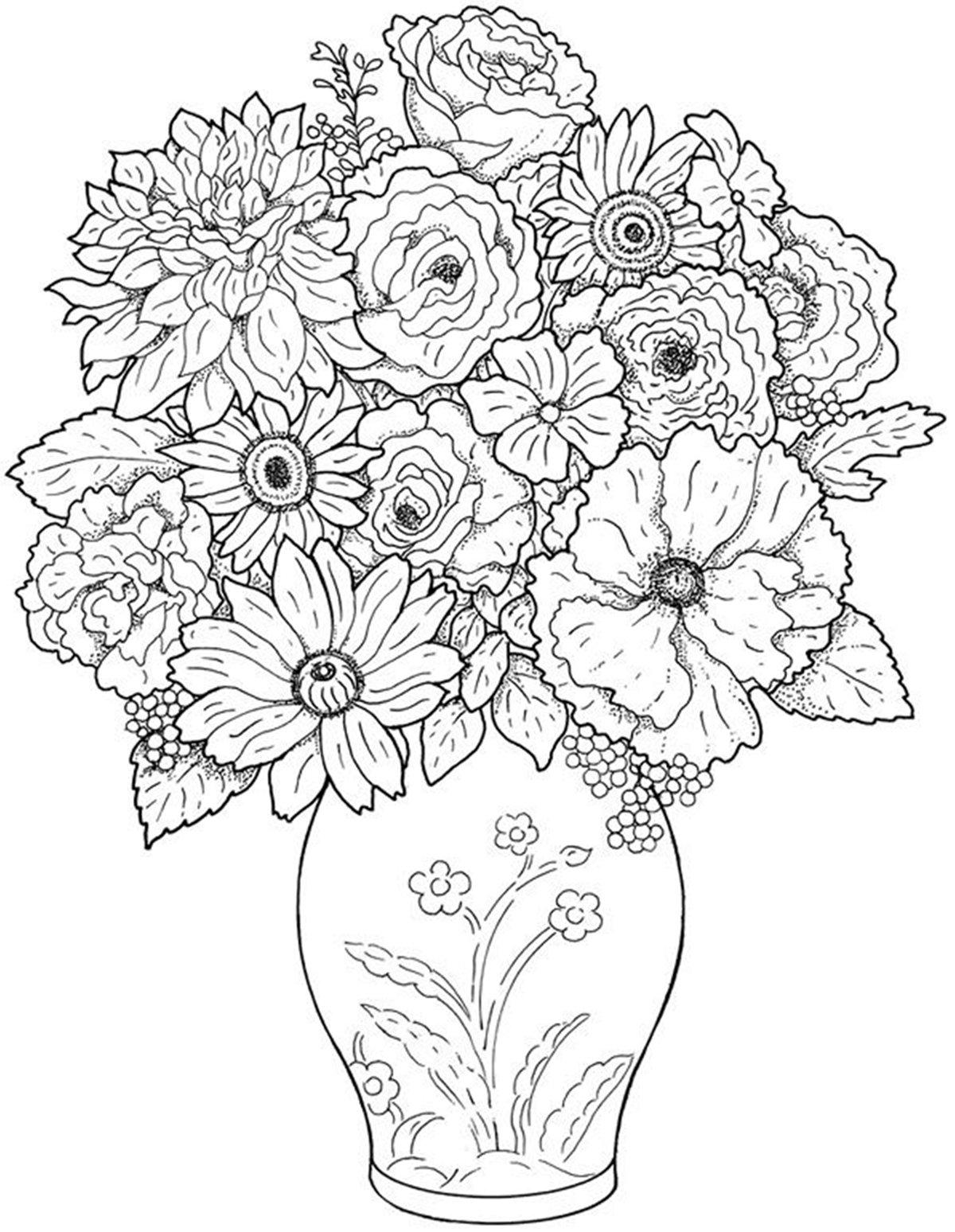 Раскраска с цветами распечатать, про погоду