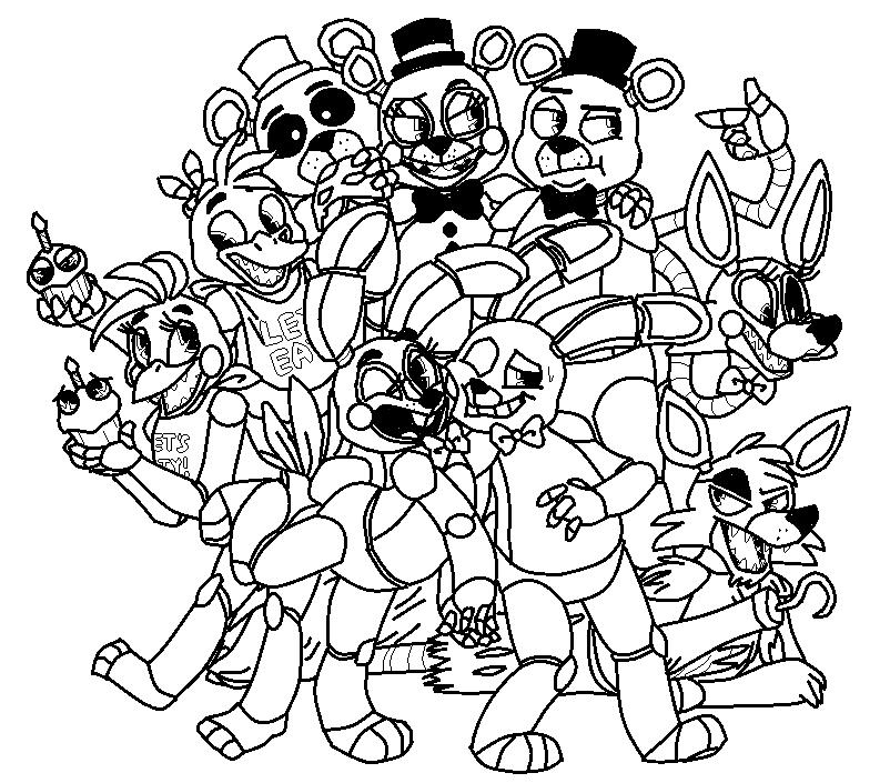 черно-белые картинки милые аниматроники это