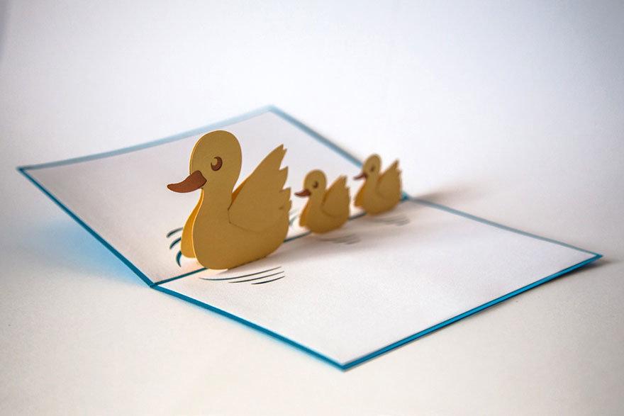 Как сделать открытку с птичкой