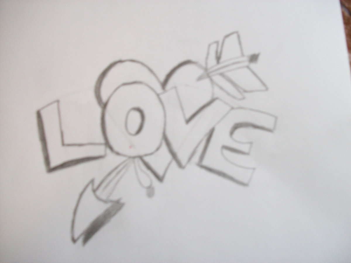 How To Draw Graffiti Love Wallpaper Hd Picture Card From User