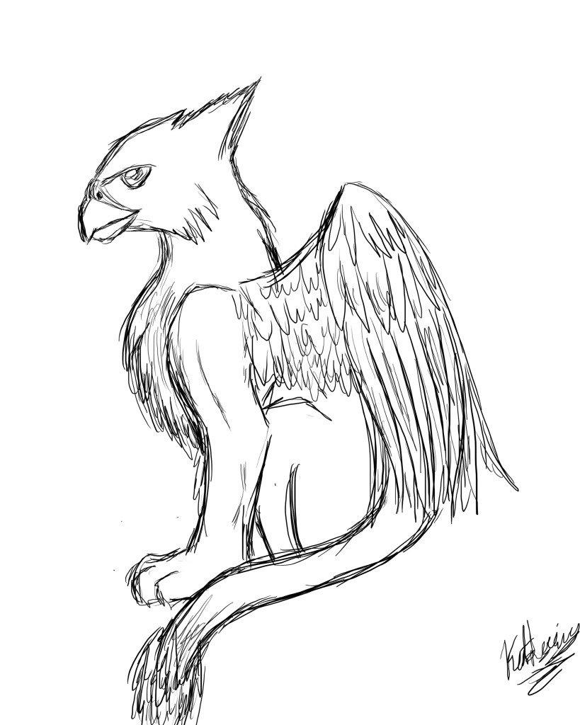 рисунки карандашом фантастика животные требуют
