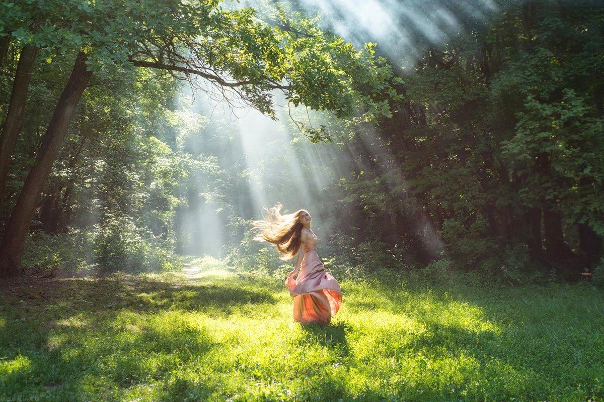 Фото радость в лесу