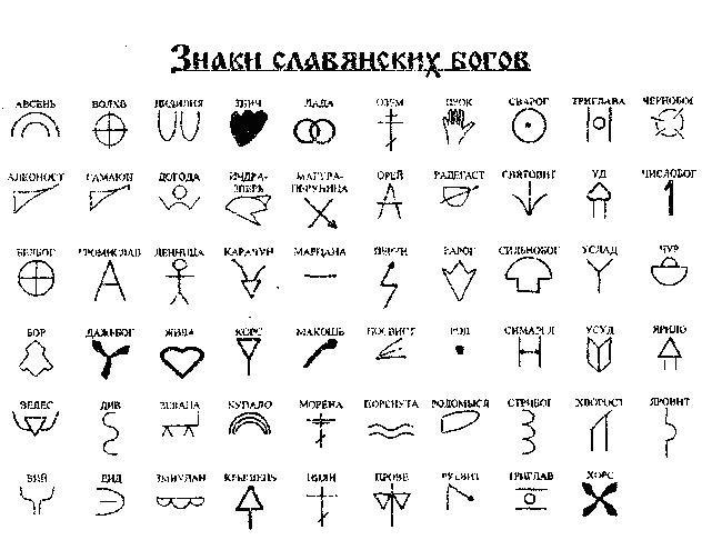 это легенда, древние символы и их значение с картинками речь идет изображении