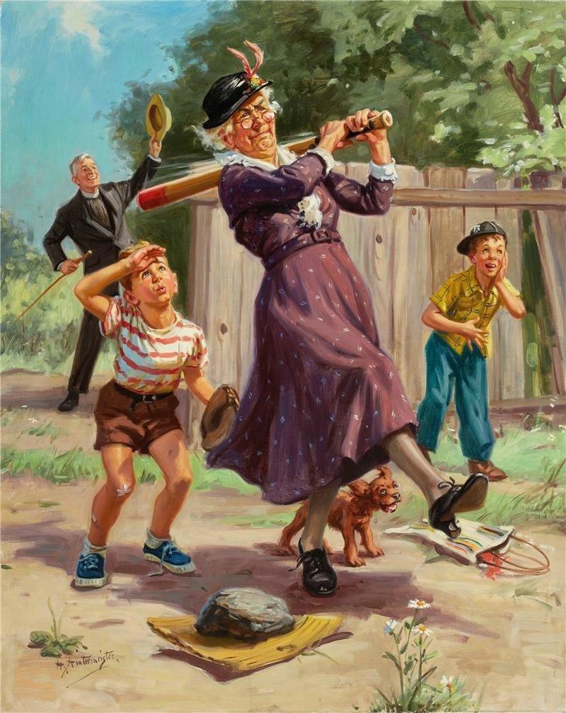 Пирожными картинки, смешная картинка бабушка и внучка