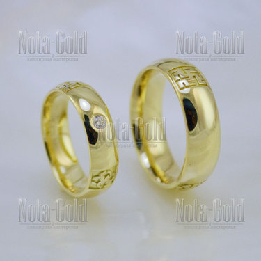 021558a468f8 Гладкое классическое обручальное кольцо бублик из красного золота ...