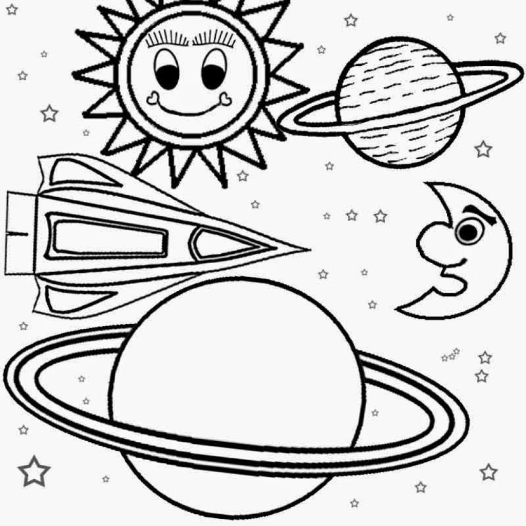 solar system coloring pages - HD 1024×1024