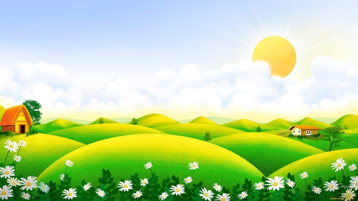 Картинка летняя полянка