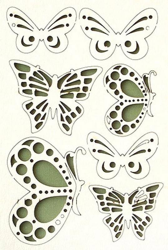 Для, вырезаем бабочки для открыток