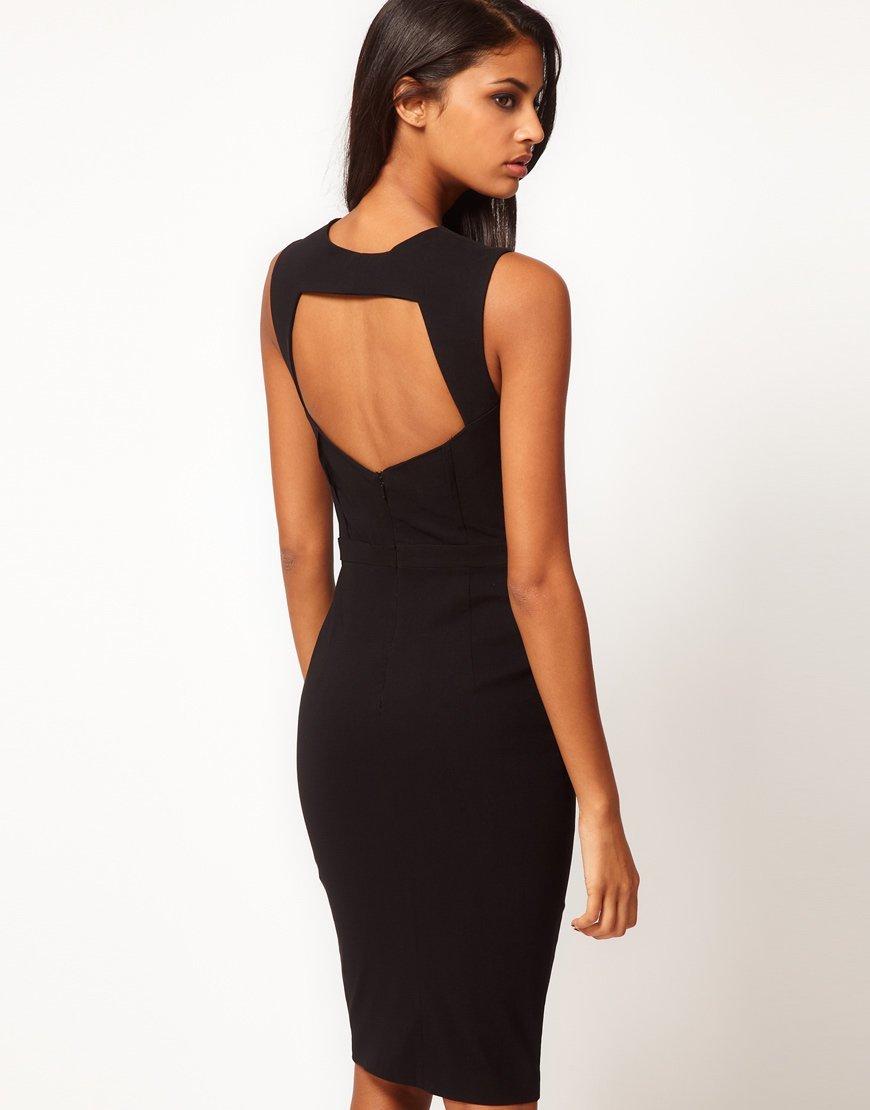 Фото короткое черное платье с открытой спиной сдача аренду