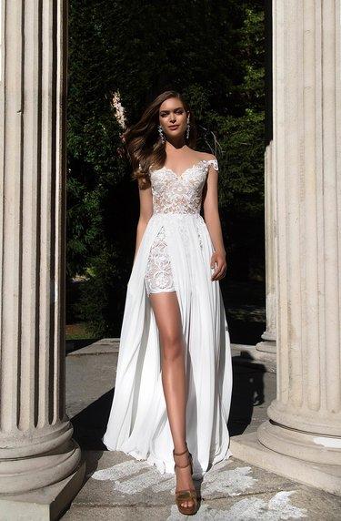 828e99fe9a4 Короткое свадебное платье с карманами Ева Уткина Emma. Купить ...