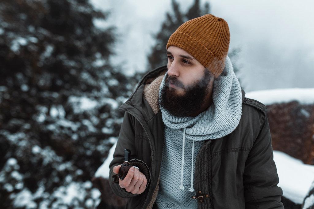 Мужская зимняя фотосъемка