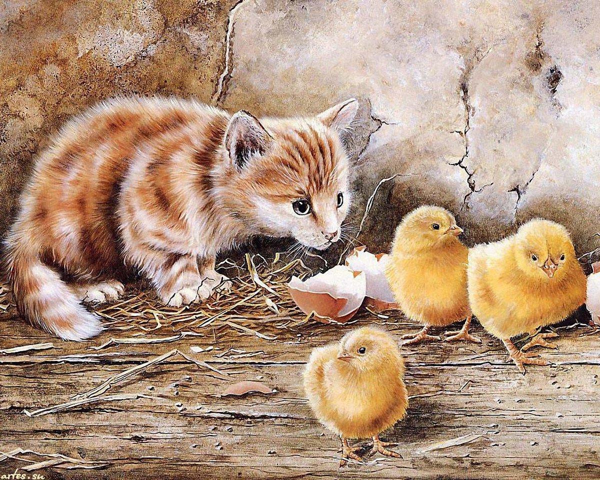 Открытки на тему животные, рождением