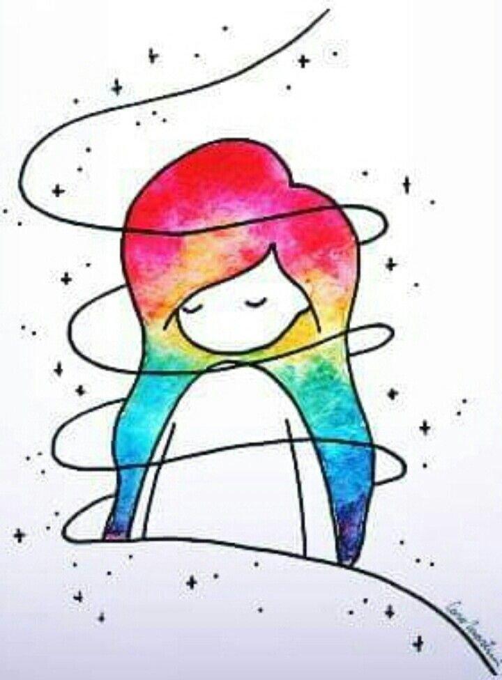Прикольные цветные картинки для срисовки, картинках