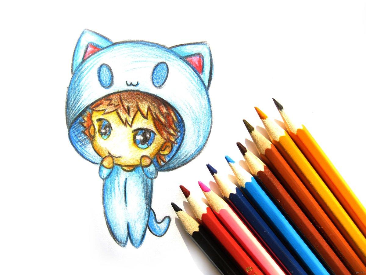 Прикольные простые рисунки цветными карандашами
