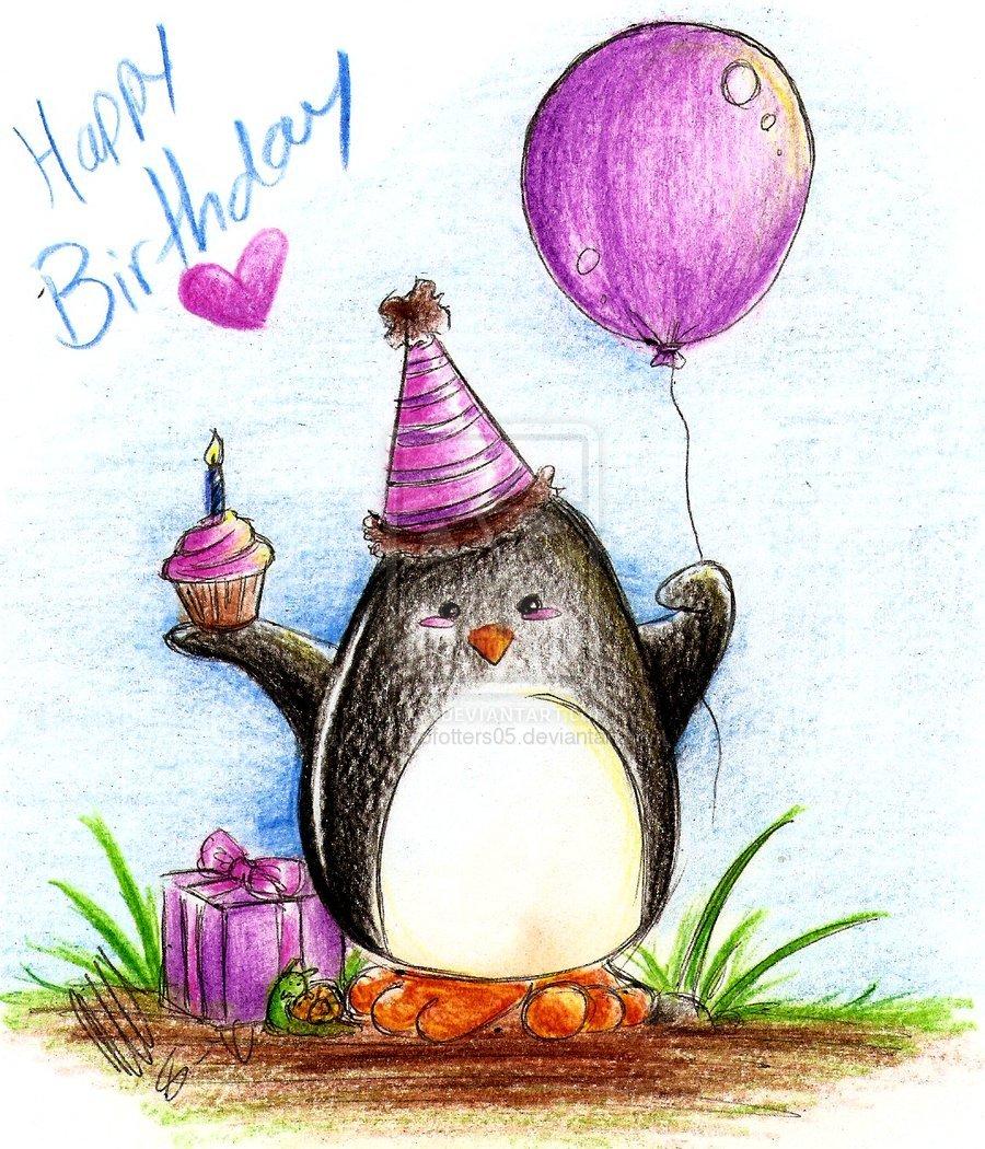 Простые нарисованные картинки с днем рождения, малышей