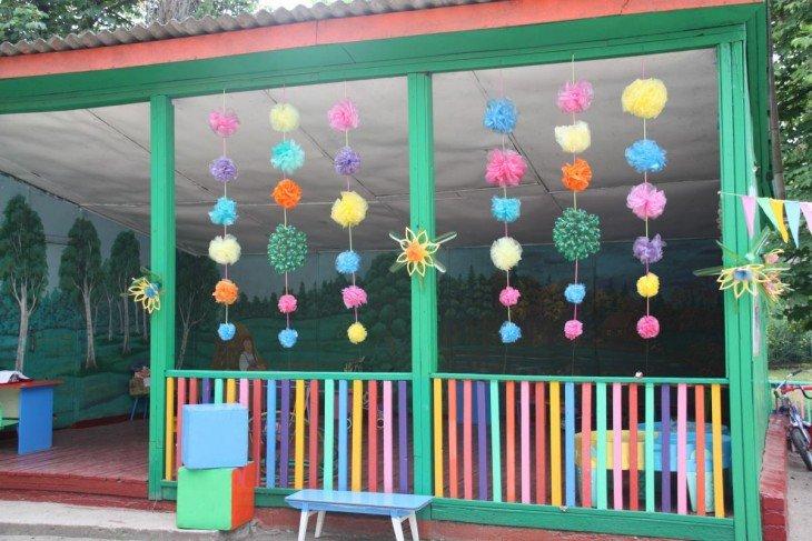 Беседка в детском саду оформление своими руками