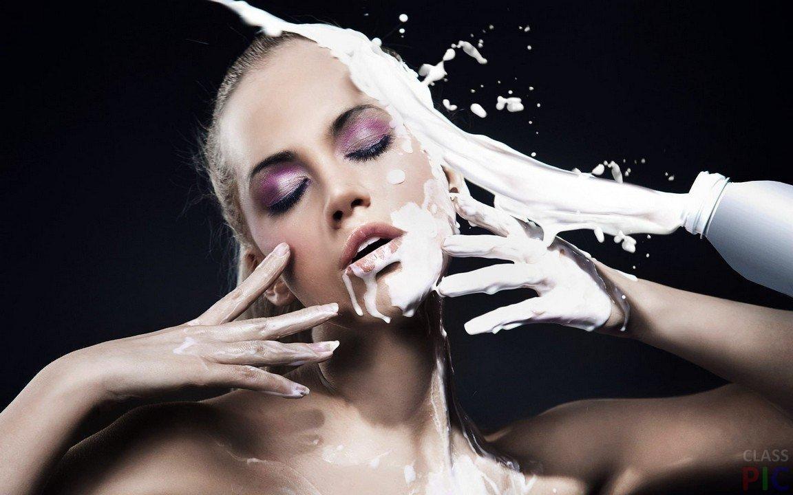 сперма на лице и теле
