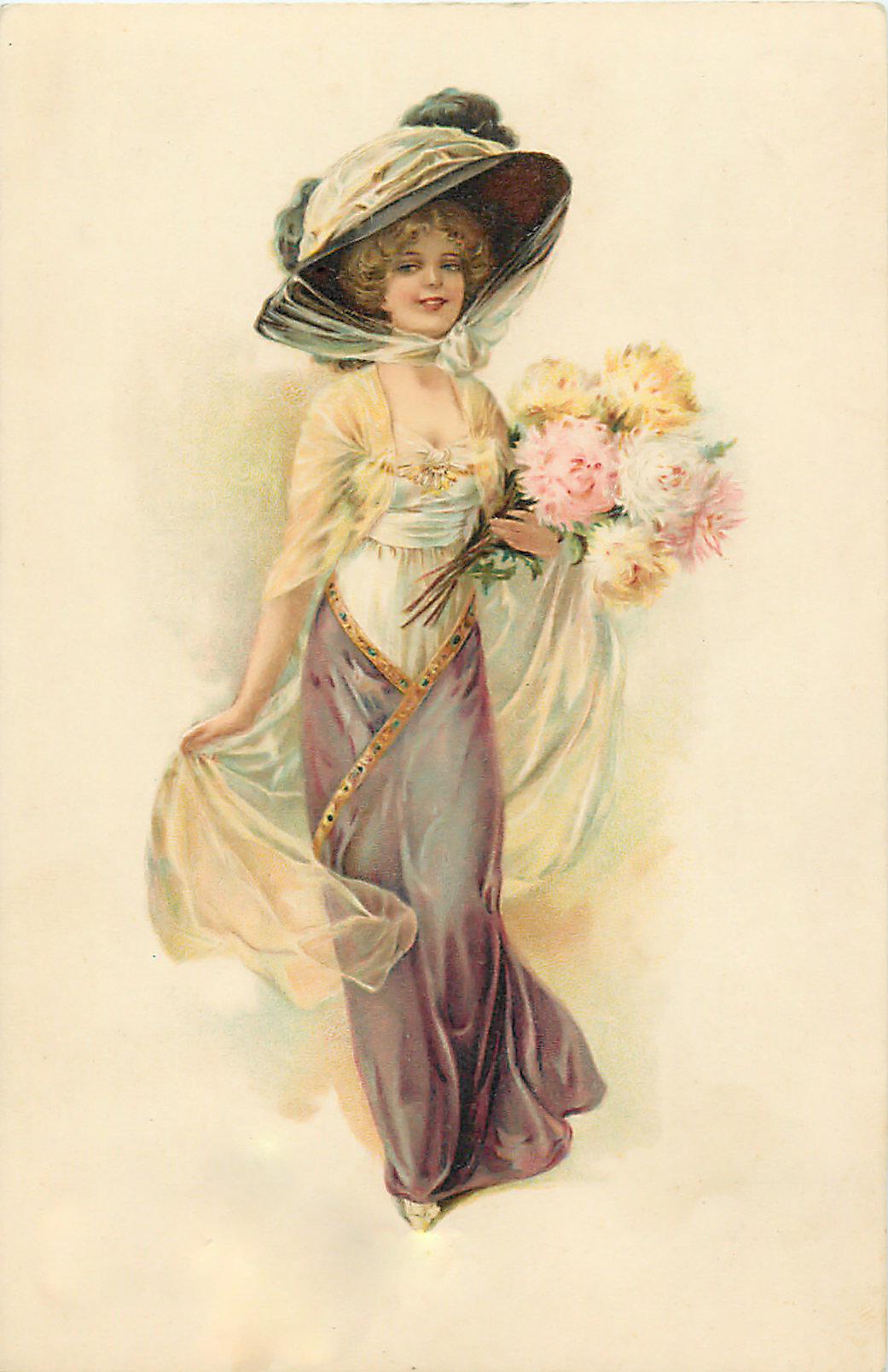 Картинку, винтажные открытки женщины