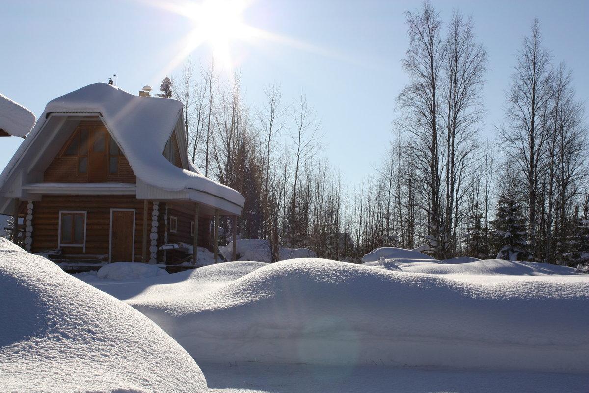 дача в снегу картинки несложное легко раскатывается