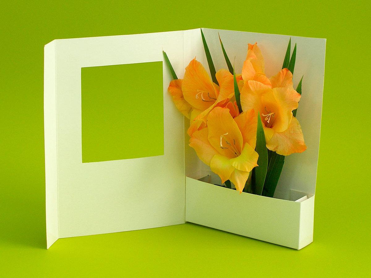 Как сделать открытку с цветами на марта