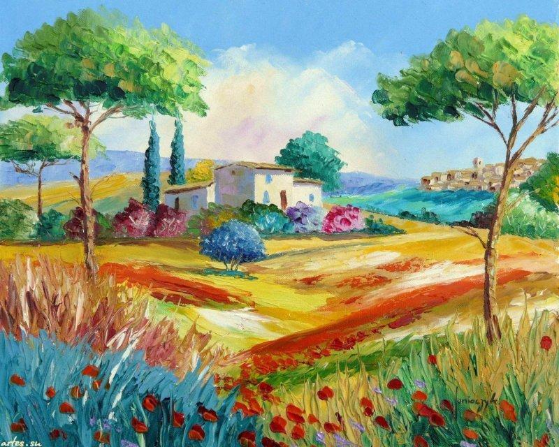 Картинки лето рисунки