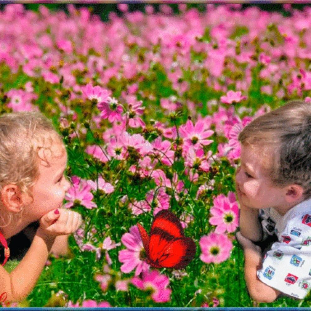 Красивые девушки, картинки анимация дети цветы жизни