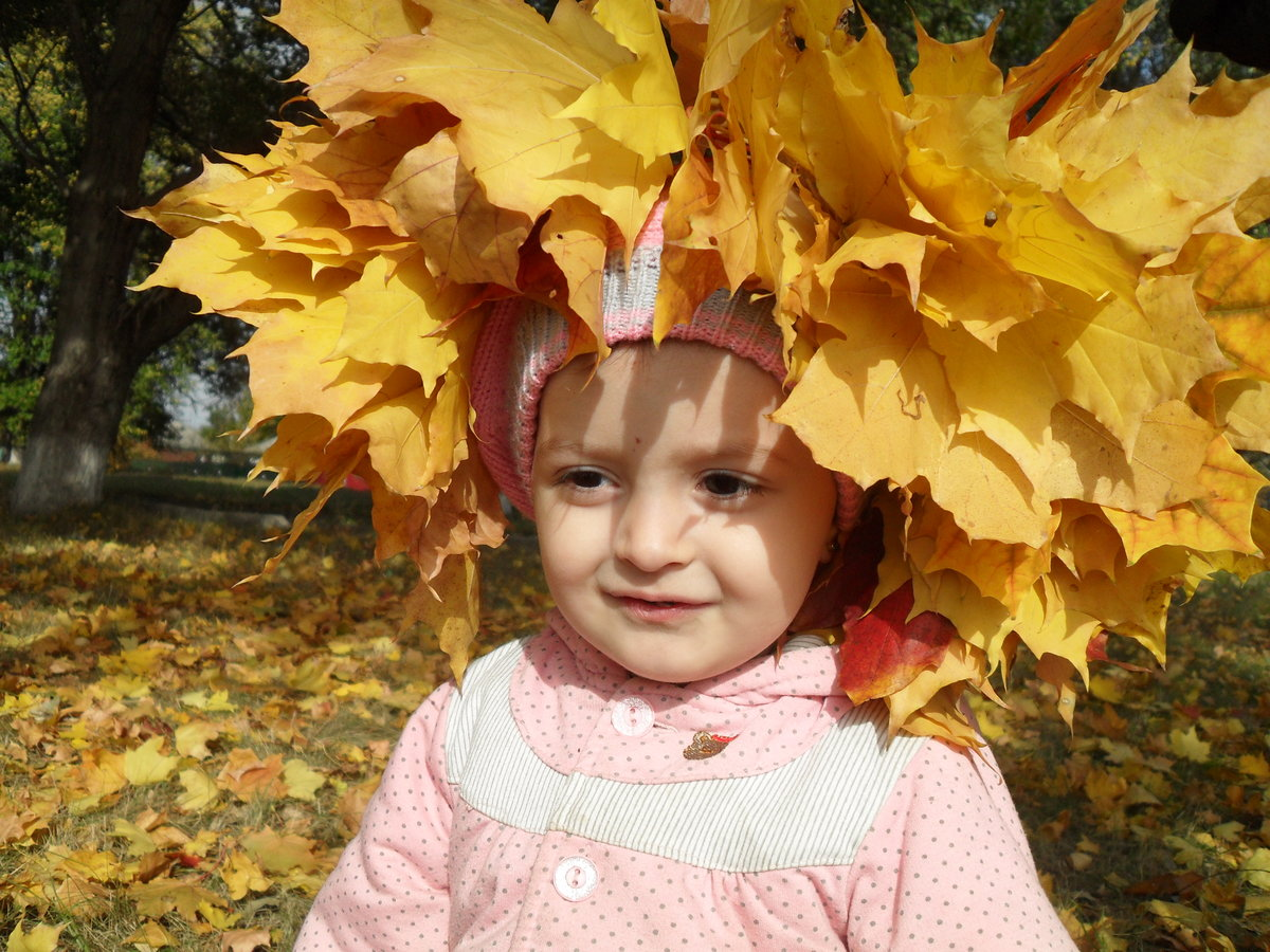 Картинки дети и осень золотая, детская