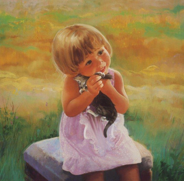 Букеты, открытка девочка и счастье