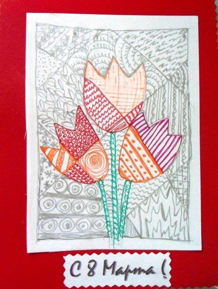 Картинка, рисование тема поздравительная открытка