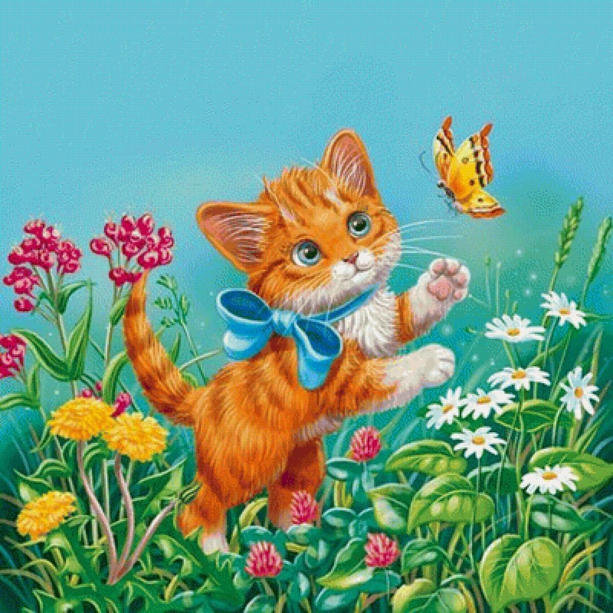 Открытки для детей котов, поздравление дочери