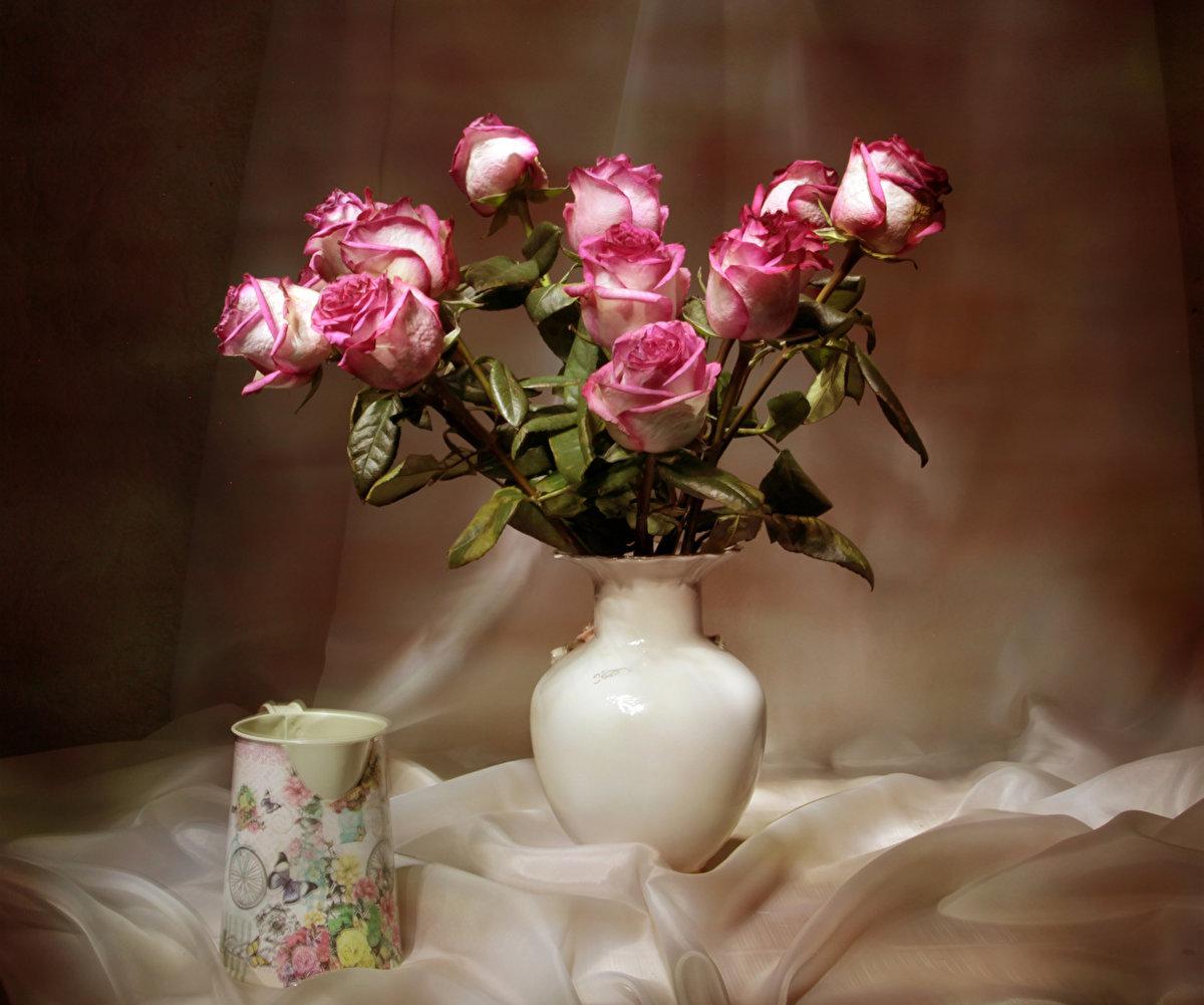 цветы розы фото в вазе колонны реставрировали